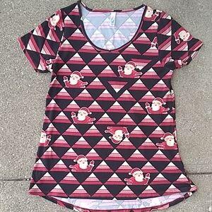 Lularoe santa shirt